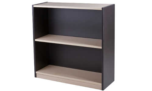 10010-0102 Bookcase 2 Tier 800h x 800w x 300d Washed Maple Carbon