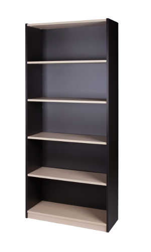 10011-0102 Commercial Bookcase 5 Tier 1800h x 800w x 300d Washed Maple Carbon