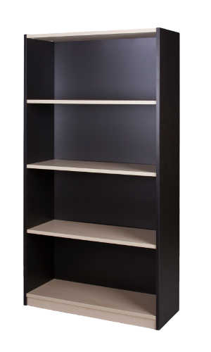 10012_0102 Commercial Bookcase 4 tier 1500h x 800w x 300d Washed Maple Carbon