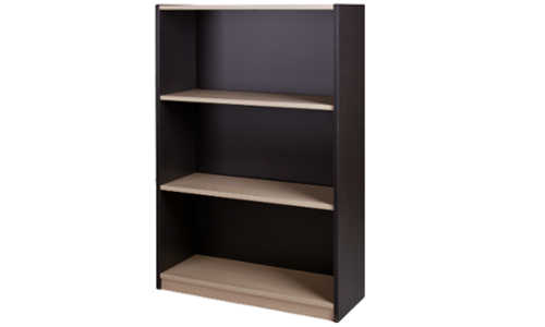 10013-0102 Commercial Bookcase 3 Tier 1200h x 800w x 300d Washed Maple Carbon