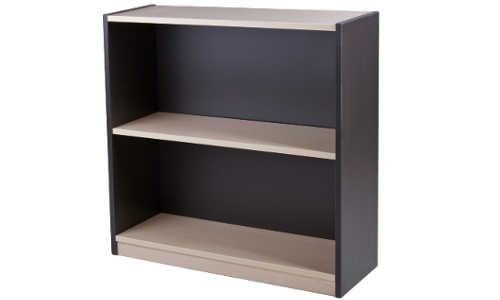 10014-0102 Commercial Bookcase 2 Tier 800h x 800w x 300d Washed Maple Carbon