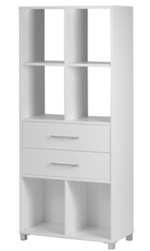Two Drawer Six Cubby Hole