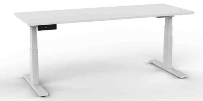 Electric Height Adjustable Desk - White Frame