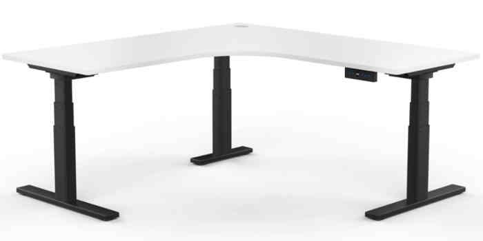 Electric Height Adjustable Workstation - Black Frame